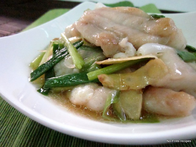 Fish fillet with ginger scallions for White fish fillet recipe