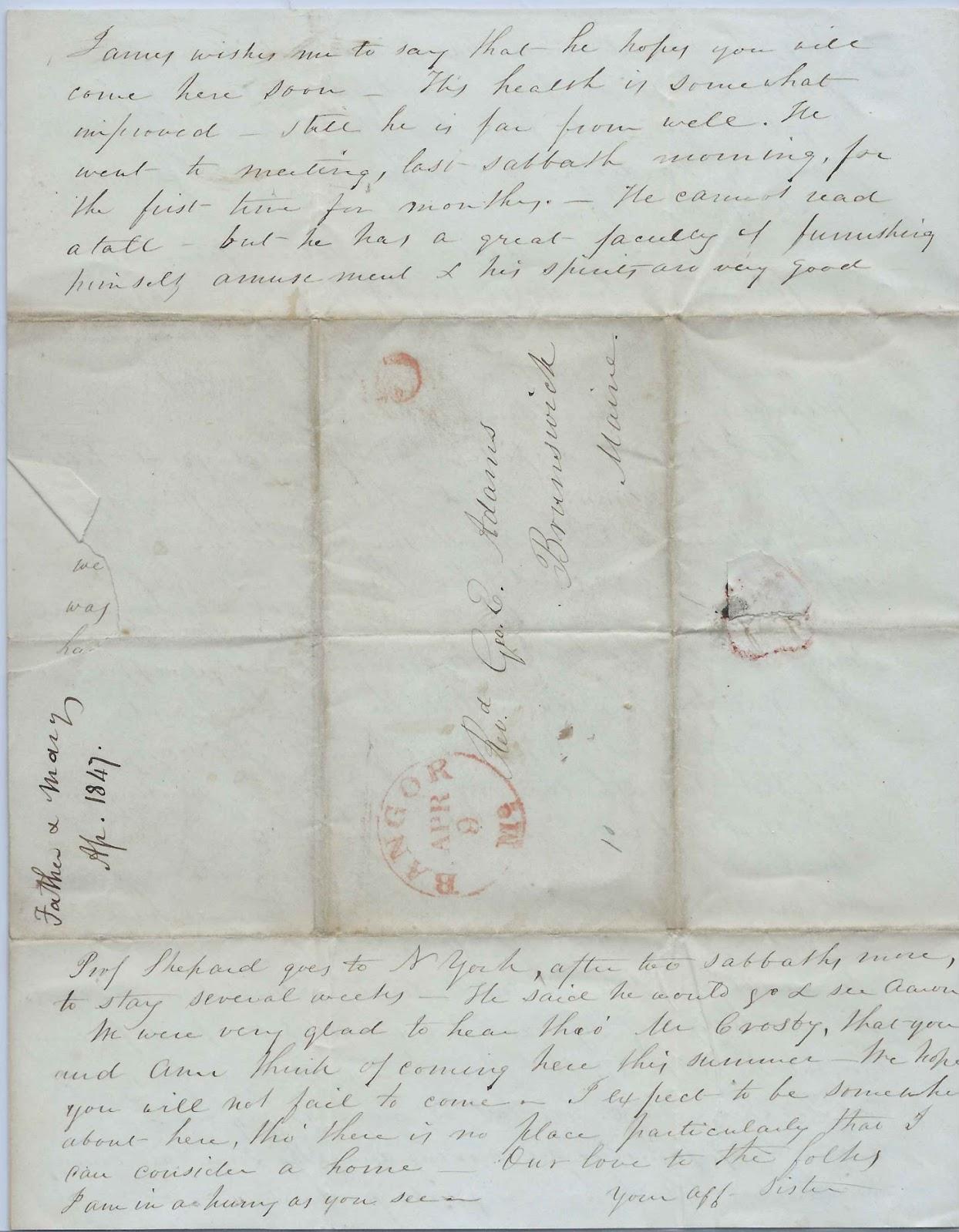 Heirlooms Reunited: 1847 Letter from Deacon Eliashib Adams