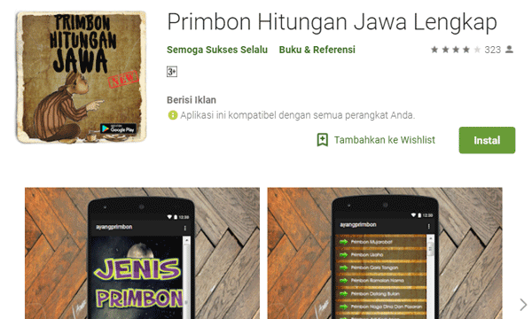aplikasi primbon hitungan jawa lengkap