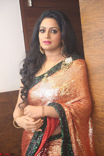 Udaya Bhanu lookssizzling in a Saree Choli at Gautam Nanda music launchi ~ Exclusive Celebrities Galleries 124.JPG