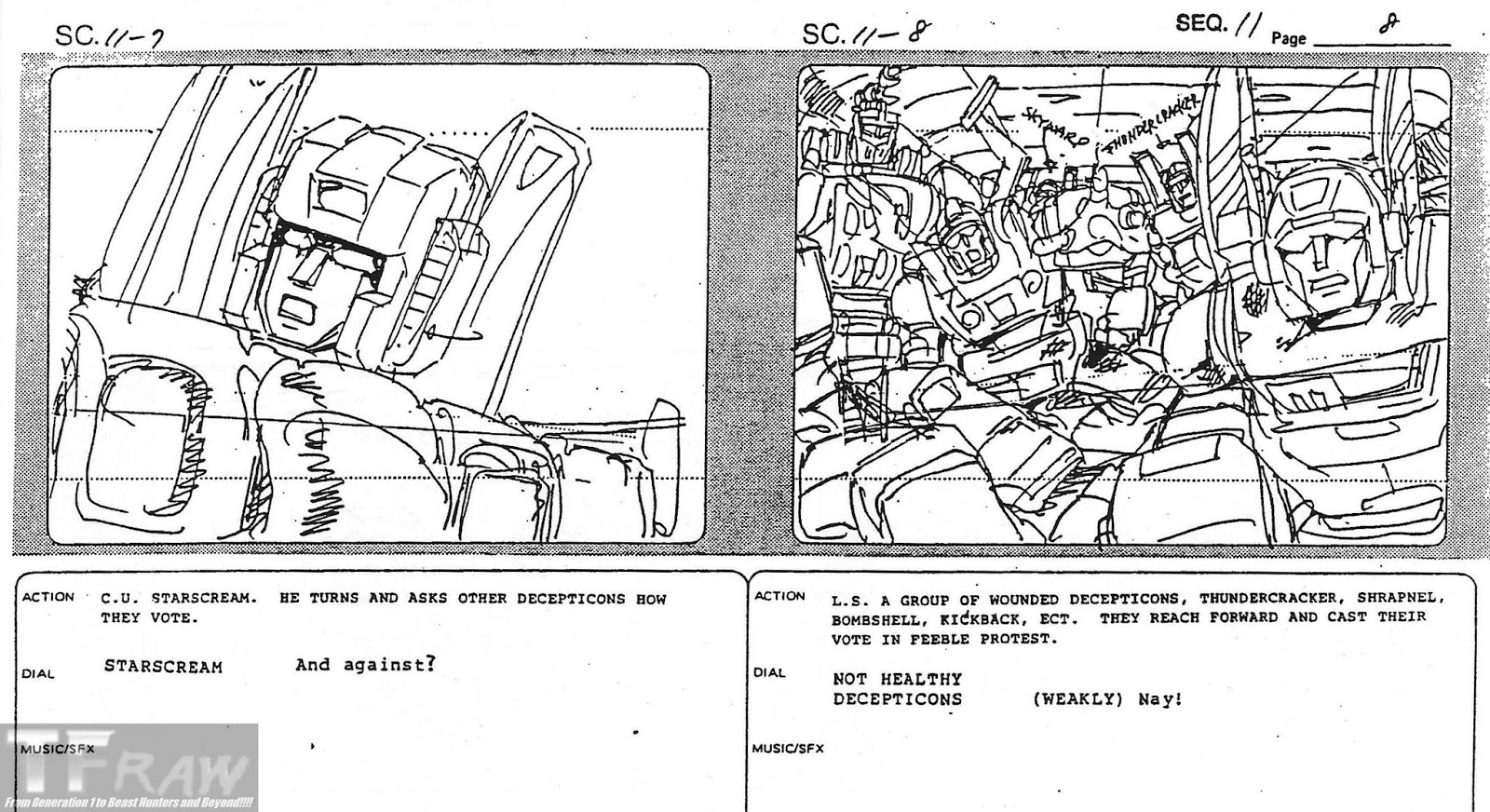 TF RAW!!!! Transformers Media Archive: Sequence 11