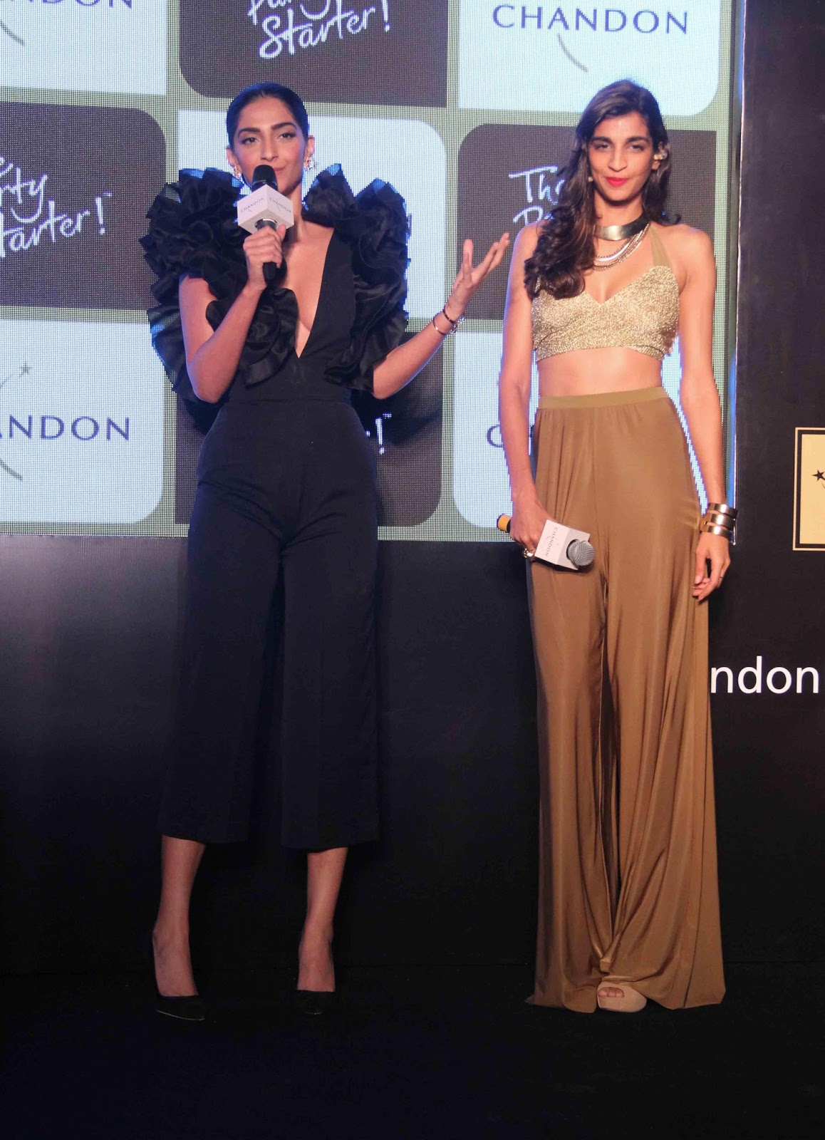 Sonam Kapoor Sexiest Boobs Show At Chandons The Party -2050