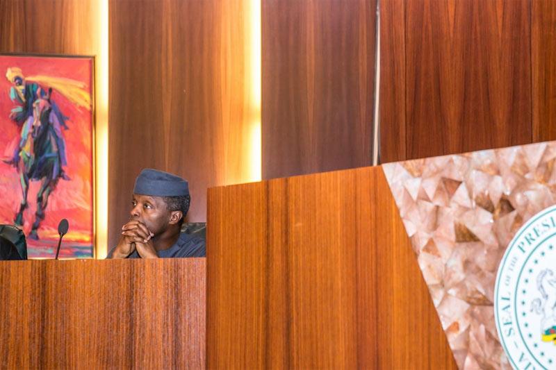 Acting president Osinbajo presides over Federal Executive Meeting today