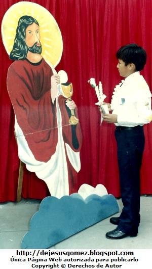 Foto de la Primera Comunión de un niño de Jesus Gómez