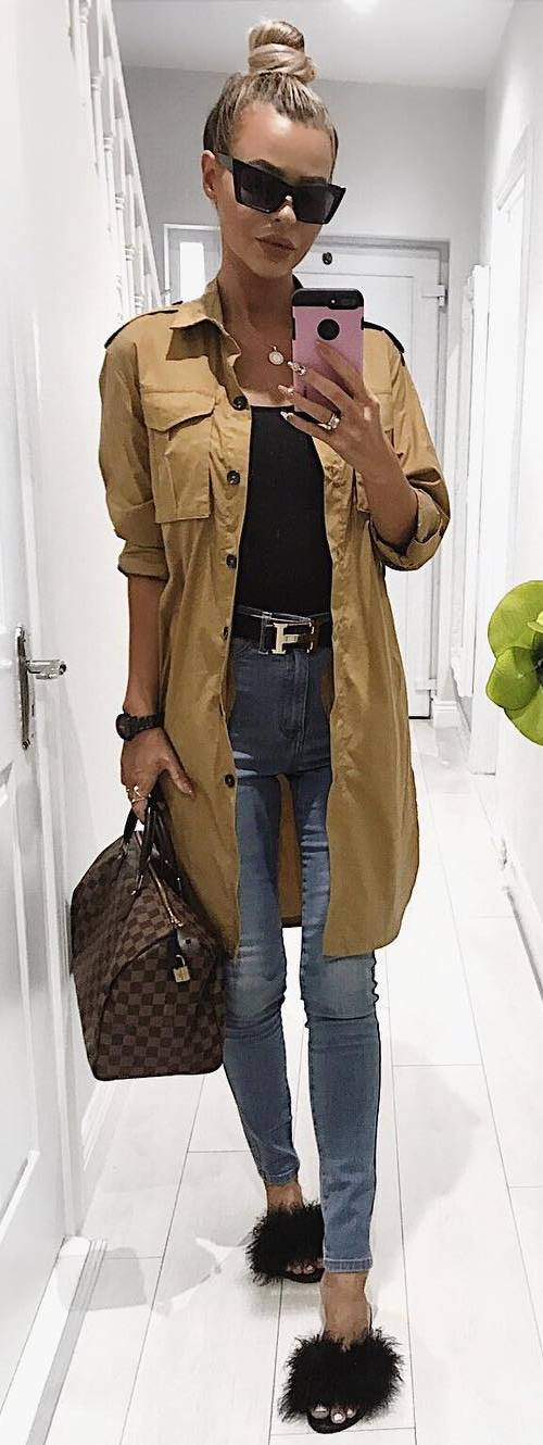 fall casual style addiction / cardi + bag + skinnies + top + flip-flop