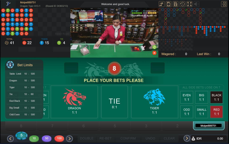 Pc Panduan Bermain Live Casino Dragon Tiger Papadewa