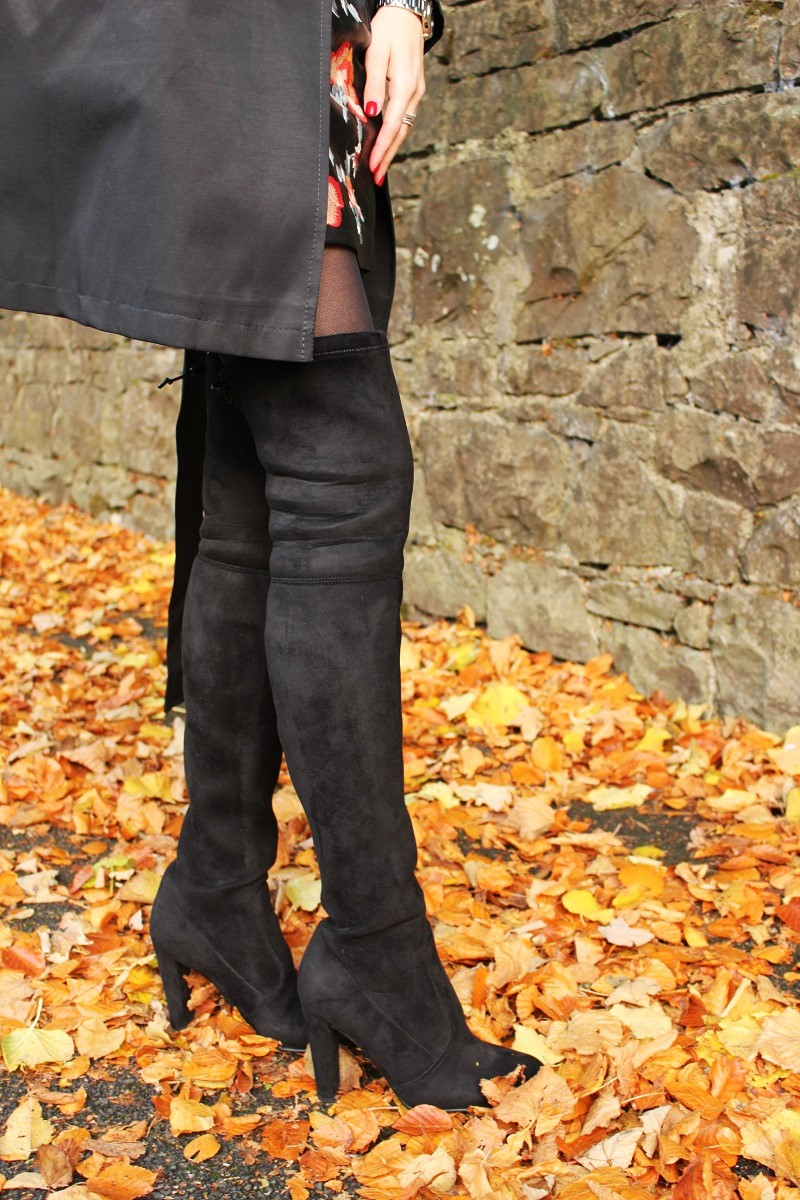 Buffalo boots, over knee boots, tight high boots