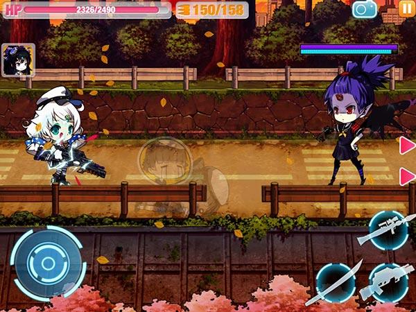 『崩壊学園』戦闘画面