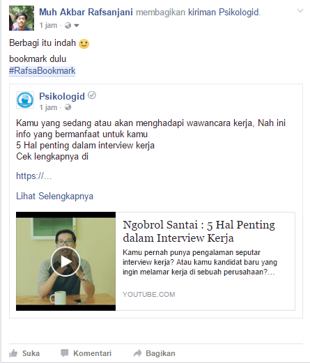 Cara Membuat Bookmark di Facebook