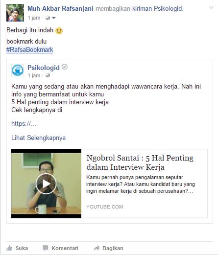 Cara Membuat Bookmark di Facebook