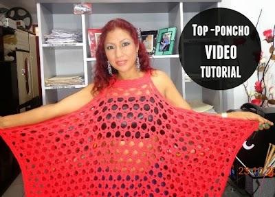 Top-Poncho playero crochet video tutorial