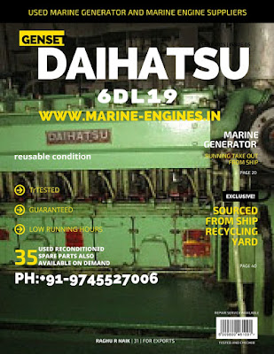 Daihatsu, marine generator, used, 550 KVA, running, reusable, excllent, condition, for sale, seller, supplier
