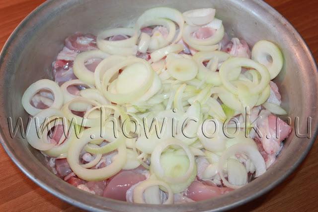 рецепт шашлыка из курицы в гранатовом маринаде с пошаговыми фото