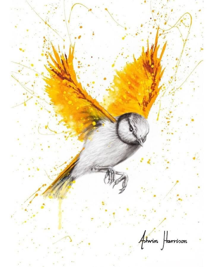 07-Orange-and-Yellow-Bird-Ashvin-Harrison-Acrylic-Paintings-www-designstack-co