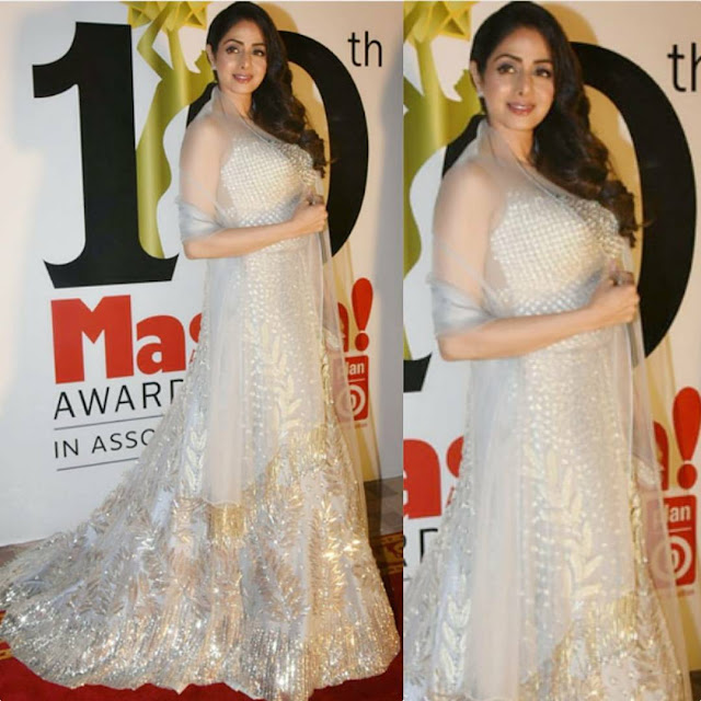 Sridevi in Manish Malhotra at Masala Awards