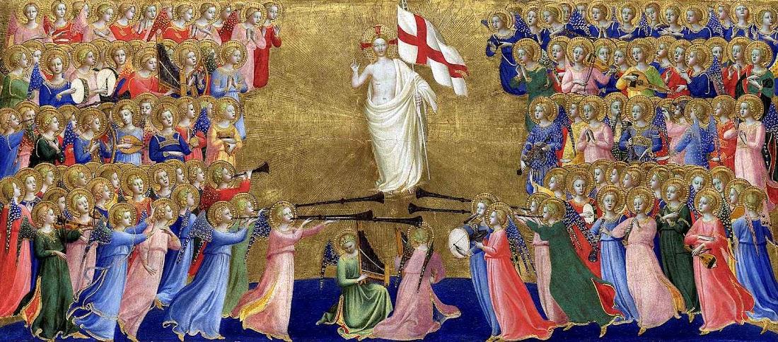 A derrota da Revolução e a restauração da Igreja em nossos dias será prefigura do triunfo final de Cristo Cristo glorificado no Céu, Fra Angelico, National Gallery of Art
