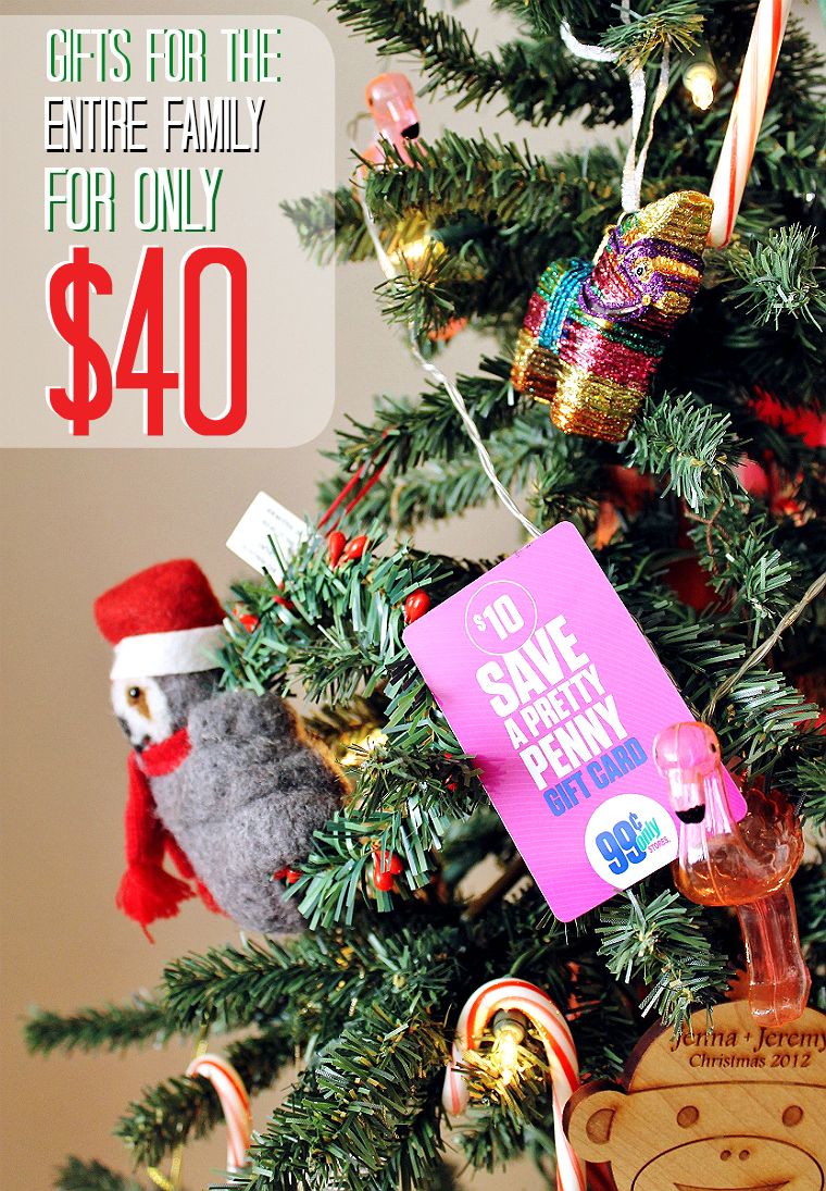 take the challenge and find gifts for the entire family on a budget of just 40