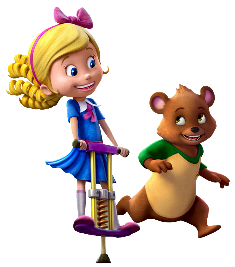 cartoon characters goldie and bear
