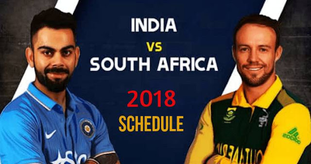 India vs South Africa 2018 Schedule: Test, ODI and T20