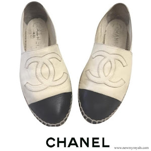 Crown Princess Mary wore Chanel Black and Cream Espadrilles Flats