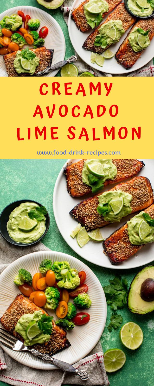 Creamy Avocado Lime Salmon