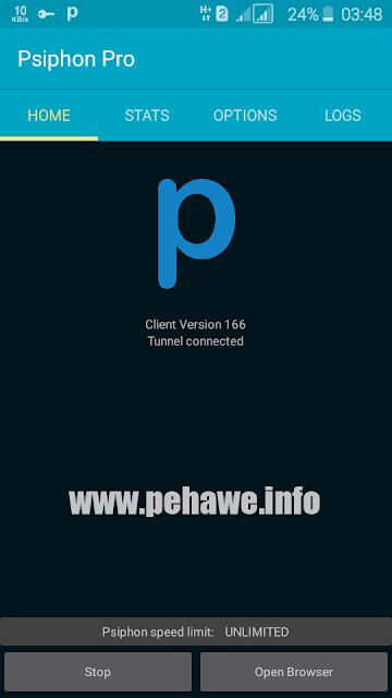 Cara Setting Psiphon Pro 3 (Tri) Opok Unlimited Terbaru 2017