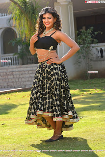 Hebah Patel in Spicy Black Choli and Ghagra HD Pics  007.jpg