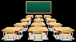 classroom empty aula klassenzimmer klaslokaal transparent cartoon sala students teacher management desks illustrazione een clipart clip teachers illustratie clean chairs