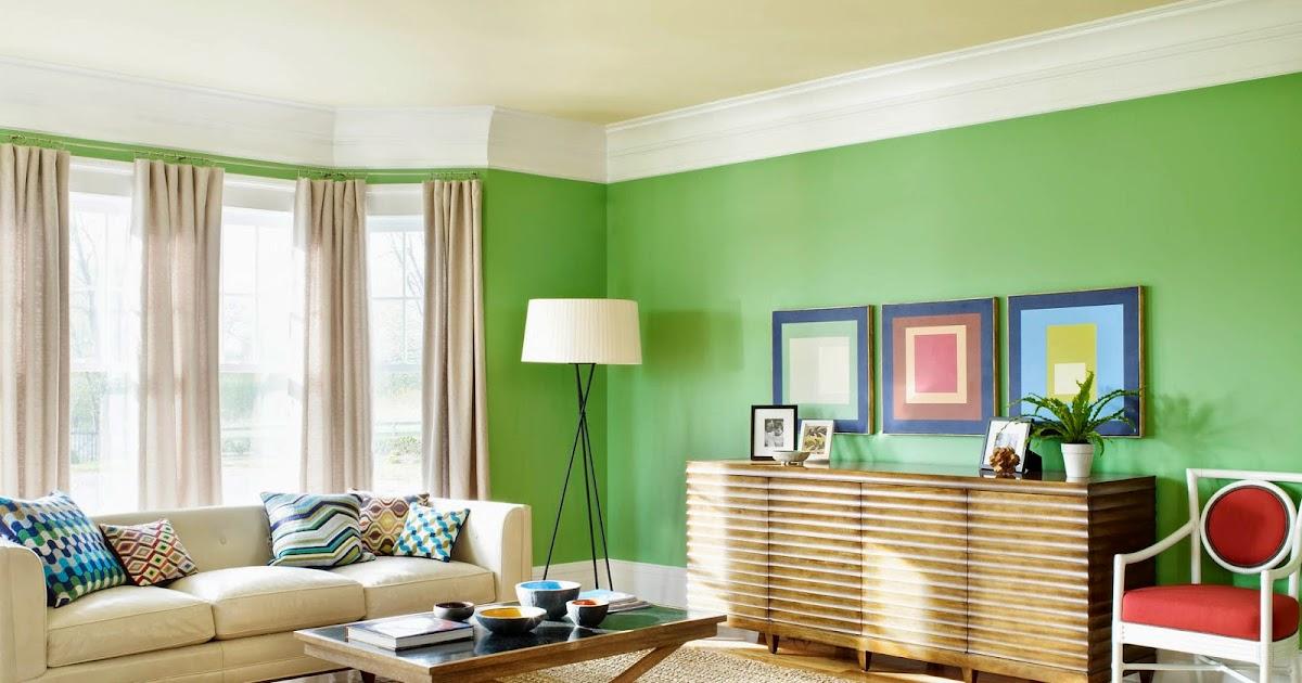 Kombinasi Warna Cat Hijau Ruang Tamu   Gambar Desain Rumah ...