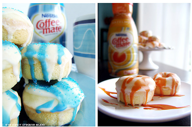 baked donut recipes using Coffeemate creamers, french vanilla, hazelnut