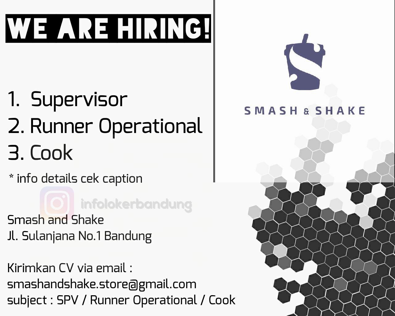 Lowongan Kerja Smash And Shake Cafe Bandung Januari 2017