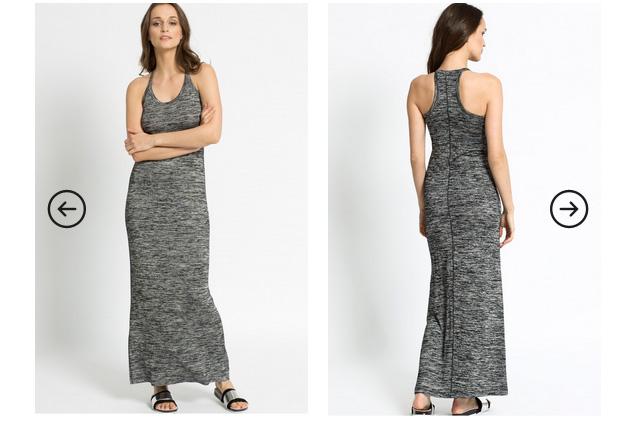 Rochie lunga de vara Calvin Klein Jeans gri - Reducere