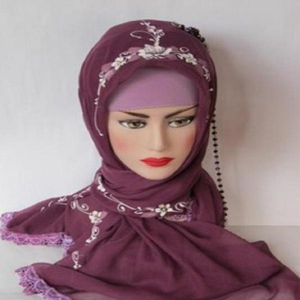 model jilbab segi empat ala zaskia mecca