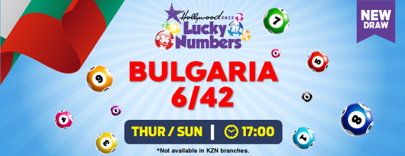 Hollywoodbets Sports Blog: Bulgaria 6/42 - Lucky Numbers