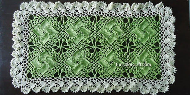 Pinwheels Table Runner Crochet Pattern