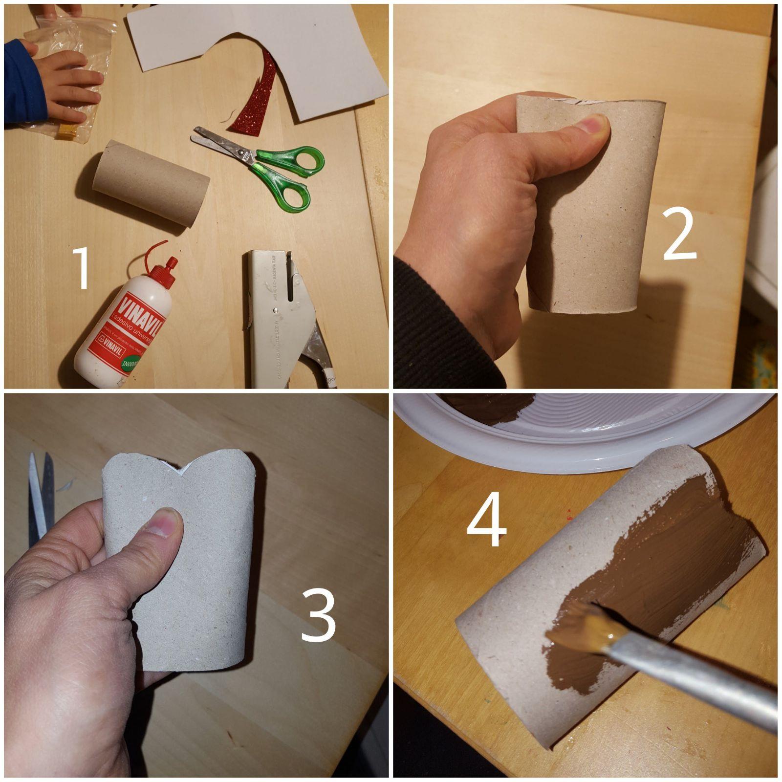 Come Creare Una Renna Luminosa renna di babbo natale con i rotoli di carta igienica