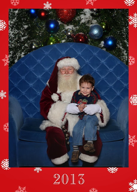 visiting Santa at the Dulles Town Center in Northern Virginia,
