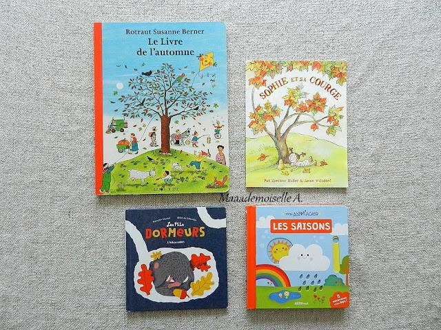    Sélection de livres sur l'automne (Chut, les enfants lisent # 85 & Et dans leur bibliothèque il y a... # 5)