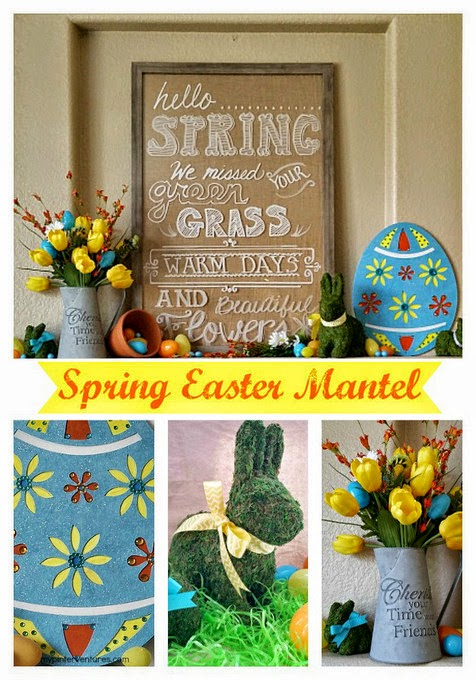 Spring Easter Mantel from My Pinterventures