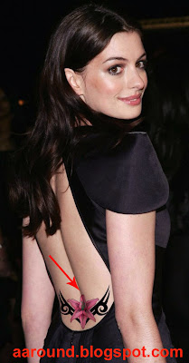 Anne Hathaway with Tattoo