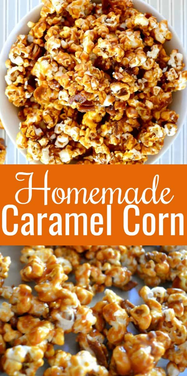 Homemade Caramel Corn Recipe is an easy to make salty sweet treat from Serena Bakes Simply From Scratch.