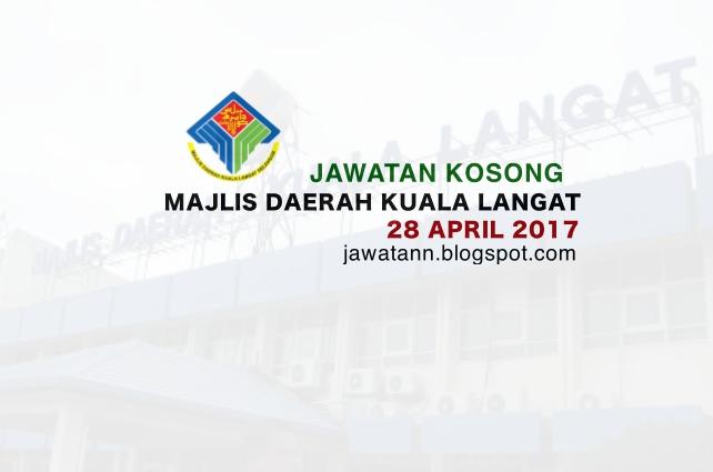 Jawatan Kosong Majlis Daerah Kuala Langat (MDKL) 28 April 2017