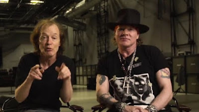 axl rose - angus young