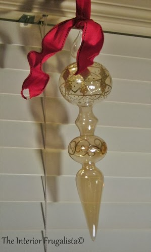 Gold mercury glass finial