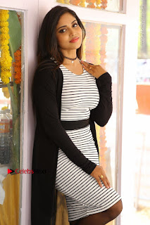 Telugu Actress Karunya Chowdary Stills in Black Dress at Soda Goli Soda Movie Opening  0311.JPG