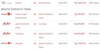 Promo tiket pesawat bulan april 2019