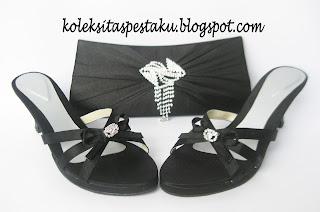 Sepatu dan Tas Pesta Bross Jurai Handmade Cantik Mewah Elegant