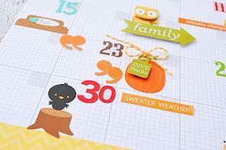 November Gratitude Calendar/Journal by Wendy Sue Anderson for Doodlebug Design