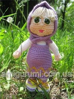 Вязаная кукла Маша амигуруми