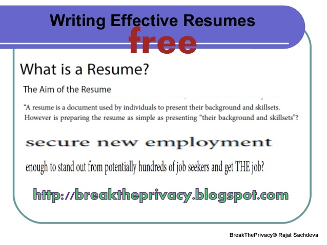 BREAK THE PRIVACY - NO SYSTEM IS SAFE Top 5 Online Resume Writing - free online resume writer